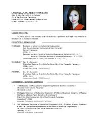 Curriculum Vitae Sample Best Curriculum Vitae Example For Fresh Graduate Resume Sample Graduates
