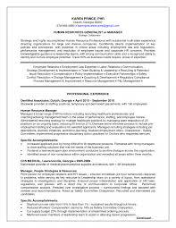 Hr Generalist Resume Resumes Objective Headline Template Sample