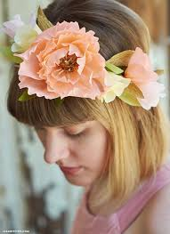 Paper Flower Headbands Video Tutorial Pretty Crepe Paper Flower Crown Lia Griffith