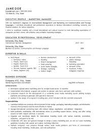 Sales And Marketing Manager Resume Sample International Sales