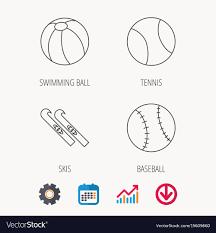 Baseball Signals Chart Swimming Ball Tennis And Baseball Icons