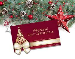 Holiday Gift Certificates Holiday Gift Certificates Nickolsons Portrait Studio
