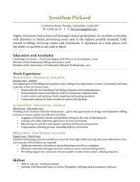 Resume Template Sample For Medical Billing Clerk Clerical