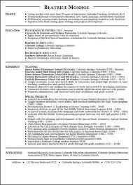 Resumes For Teachers 19 New Teacher Resume Examples Elementary