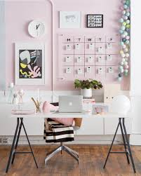 home office plans decor. Home Office Plans Inspirational Modern Pink White And Black Workspace Decor Pastel M