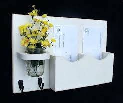 wall mounted mail organizer wall mounted mail organizer idea with decorative glass vase and fresh flowers