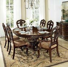 homelegance 2243 76 deryn park collection cherry round dining table set 7pcs