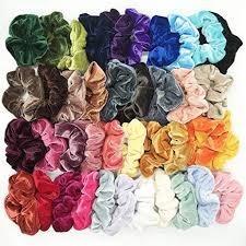 40 Pcs <b>women</b> Solid color <b>Elastic Hair</b> Bands Soft Velvet <b>Scrunchie</b> ...