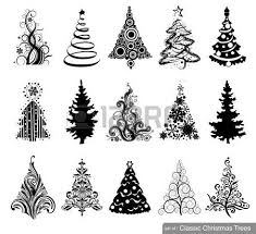 100  Christmas Tree Clipart Black And White   Father Christmas Christmas Tree Outline Clip Art