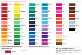 Sakura Poster Color Chart