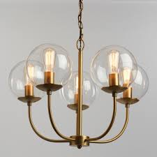 unique chandelier lighting. Antique Brass And Glass Globe 5 Light Alessa Chandelier Unique Lighting