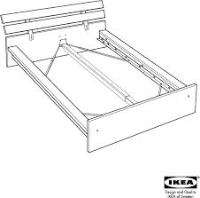 Download IKEA HOPEN BED FRAME KING Assembly Instruction for Free