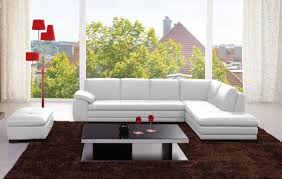 White italian furniture Living Room 625 Sectional Sofa In White Italian Leather And Ottoman Freight Interior 625 Sectional Sofa In White Italian Leather By Kuka Furniture