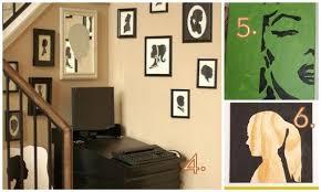 silhouette wall art diy