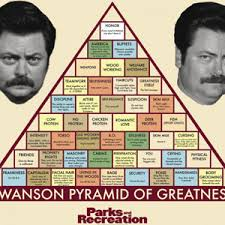 Swanson Pyramid Of Greatness Ron Swanson Quotes