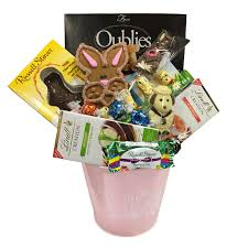 easter bunny tin gift basket