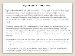 Official Documents Template Agreement Templates