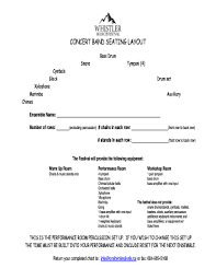 Fillable Online Concert Band Seating Chart Fax Email Print