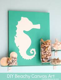 Diy Canvas Art Diy Art Beachy Seahorse Canvas