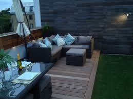 Image Outdoor Roof Terrace Furniture On Hardwood Deck With Artificial Grass Sandstone Paving Pinterest Roof Terrace Furniture On Hardwood Deck With Artificial Grass