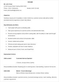 Microsoft Word Resume Templates Free Hospitality Resume Template