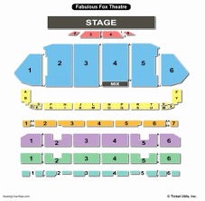 Fox Theater Detailed Seating Chart 78 Unbiased The Fox Theatre Pomona Seating Chart
