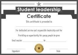 Principal Award Certificate Student Leadership Certificate 10 Best Student Leadership