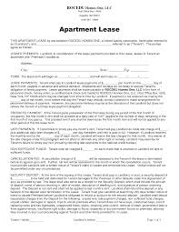 Sample Apartment Lease Agreements Sample Apartment Lease DOC by gabyion apartment lease agreement 1