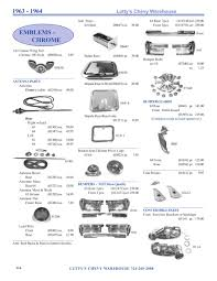 1963-1964 Impala parts by Lutty