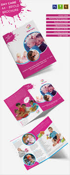 beautiful child care brochure templates premium templates day care a4 bi fold brochure daycare a4bifoldbrochure