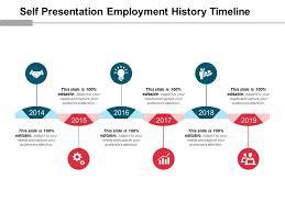 Self Presentation Employment History Timeline Good Ppt