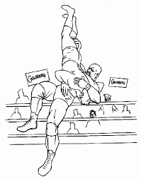 Small Picture WWE Professional Wrestling Coloring Page For Boys Sports