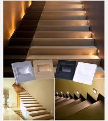 stair lighting led. Mini Corridor Foot Lamp Recessed Stair Lighting LED 3W Wall Step Lights Led