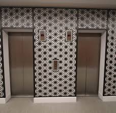 Square Metal Wall Decor America Square London Foyer And Elevator Laser Cut Screens