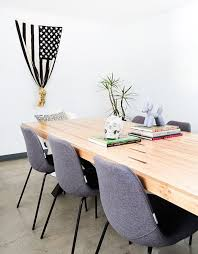 tour stylish office los. The Tables Are Made Of Wood Reclaimed From Old Bowling Alleys\u2026 Tour Stylish Office Los E