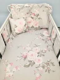 handmade new baby girl cot bedding set