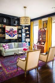 Yellow Living Room Decor Beautiful Purple And Yellow Decorations