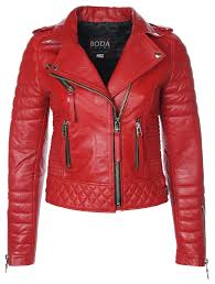 Kay Michaels Quilted Biker (Pop Red) – BODA SKINS - Leather to ... & Kay Michaels Quilted Biker (Pop Red) – BODA SKINS - Leather to Love Forever Adamdwight.com