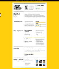 bold A Few Interesting Resume/CV Website Designs
