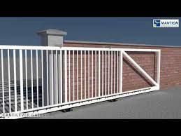 cantilever sliding gate installation