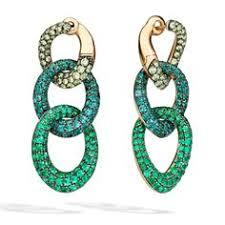 pomellato demantoid garnet and emerald earrings antonella b rossi italian jewelry brands 1