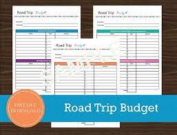Road Trip Budget Template Road Trip Budget Planner Template Road Trip Budget Sheet