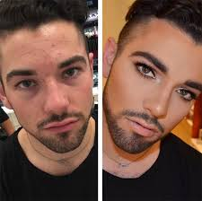 men wearing makeup is the newest trend on insram