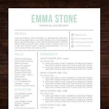 Cool Resume Templates For Mac Fascinating Resume Template Professional Creative Resume Instant Download CV