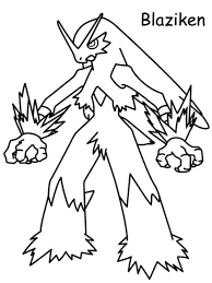 Small Picture Blaziken Pokemon Black and White Coloring Pages 550x733 picture