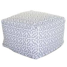 gray aruba indoor outdoor ottoman cushion