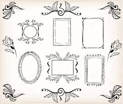 Easy Frame Design Drawing Easy Corner Border Designs Borders And Frames Stock
