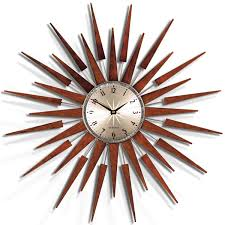 ideas winsome retro starburst wall clock 126 vintage elgin sunburst wall with proportions 1200 x