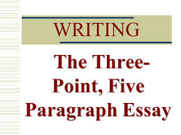 writing the three point five paragraph essay three parts  1 writing the three point five paragraph essay