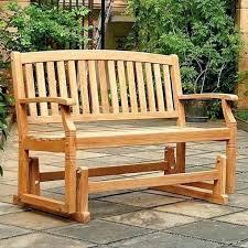 garden glider bench 4 ft teak outdoor furniture cushions glide